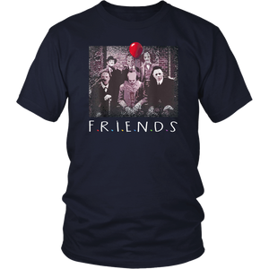Yeyvibe - Friends Halloween Horror Team Scary Movies Costume T shirt
