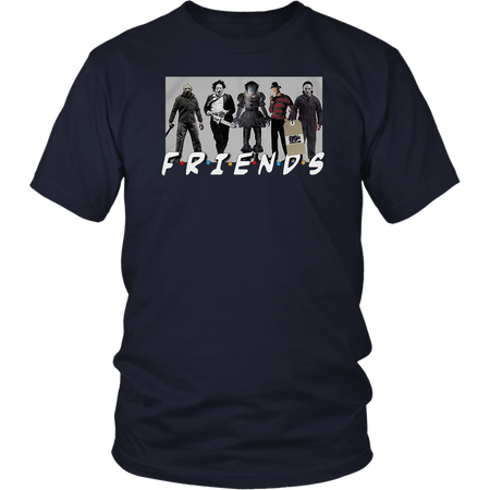 Horror Characters Halloween Friends T-Shirt Best Scary Squad Team