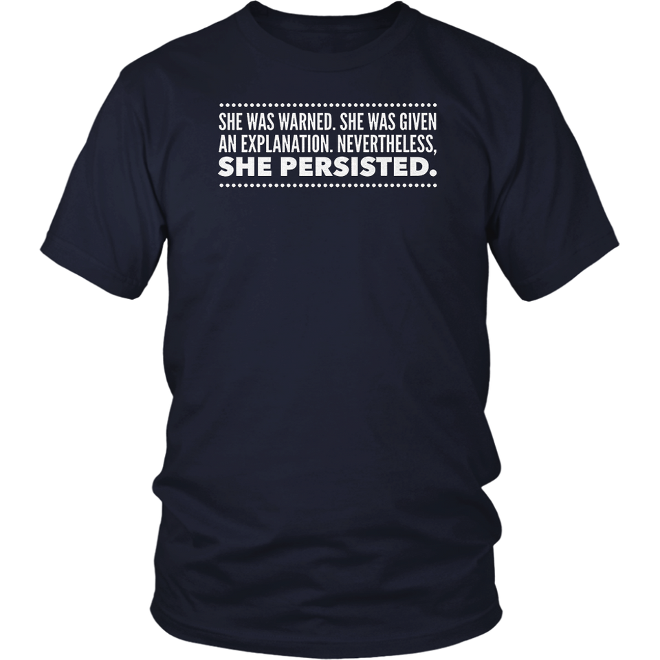 NEVERTHELESS SHE PERSISTED T-Shirt Elizabeth Warren Tshirt