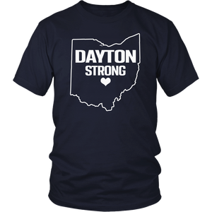 Dayton Strong Ohio Map 937 Strong T-Shirt