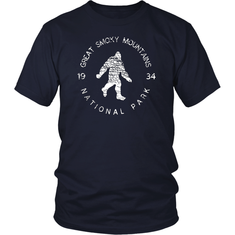 Great Smoky Mountains National Park Sasquatch Yeti Bigfoot T-Shirt