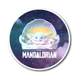 Star Wars The Mandalorian The Child Floating Pod Sticker