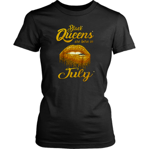 Queens Are Born In July Birthday 2020 T-Shirt for Black Women