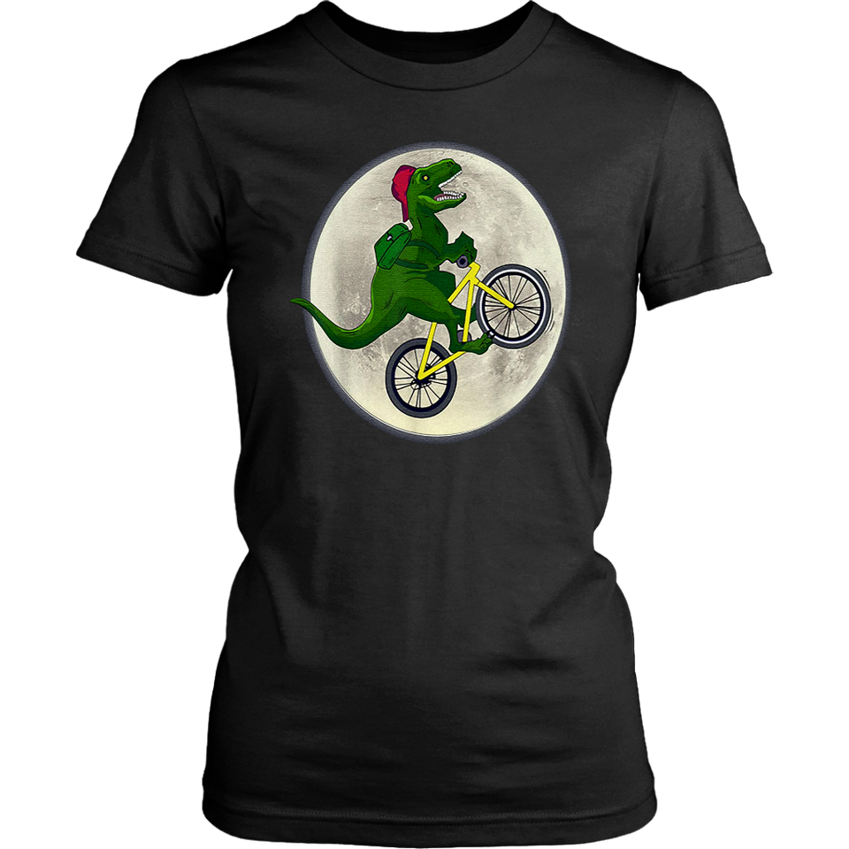 DINOSAURS RIDE BICYCLES ON THE MOON SHIRT