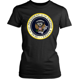 Women's Charles Leazott tee shirt Fake Presidential Seal