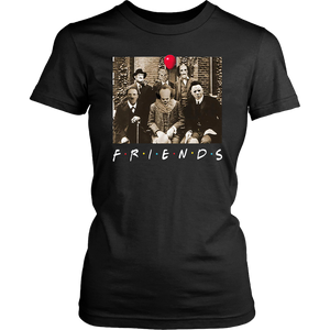 Horror Halloween Team Friends Womens Shirt