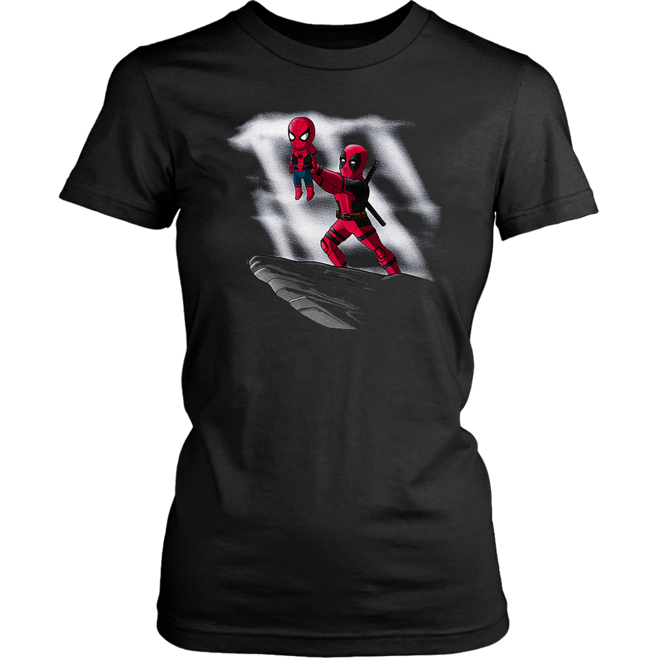 Deadpool And Spiderman Lion King Mashup Shirts