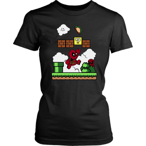Deadpool Super Mario Grab The Taco Mashup Shirts