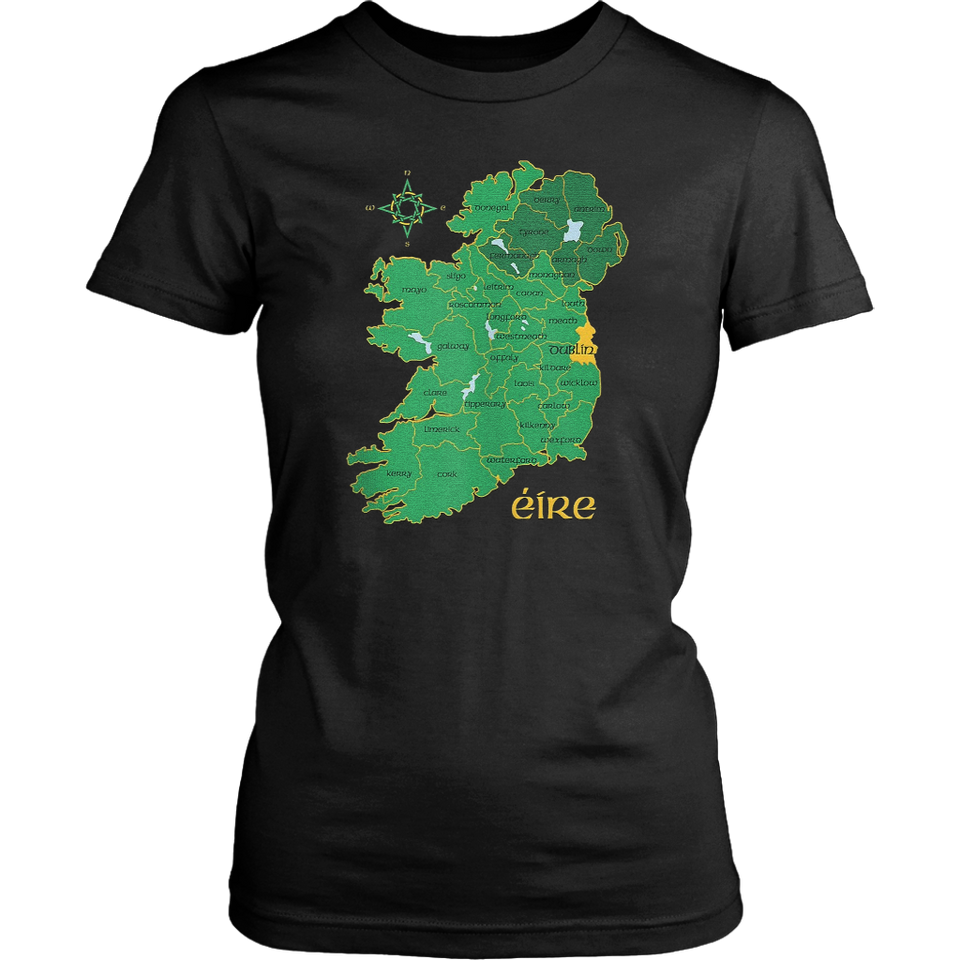 Find Dublin Ireland County Map Eire Irish Travel Celtic Gift Tank Top – Standard T-shirt