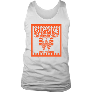 CHICAGO'S MOST FAMOUS TEXAS HAMBURGER CHAIN SHIRT Chicago Whataburger t-shirt