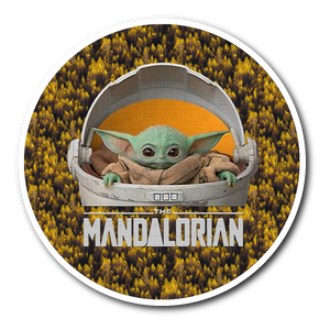 Watching Movie The Mandalorian Yoda Christmas Baby Sticker