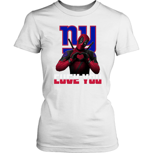 New York Giants x Deadpool Fuck You And Love You NFL Shirts