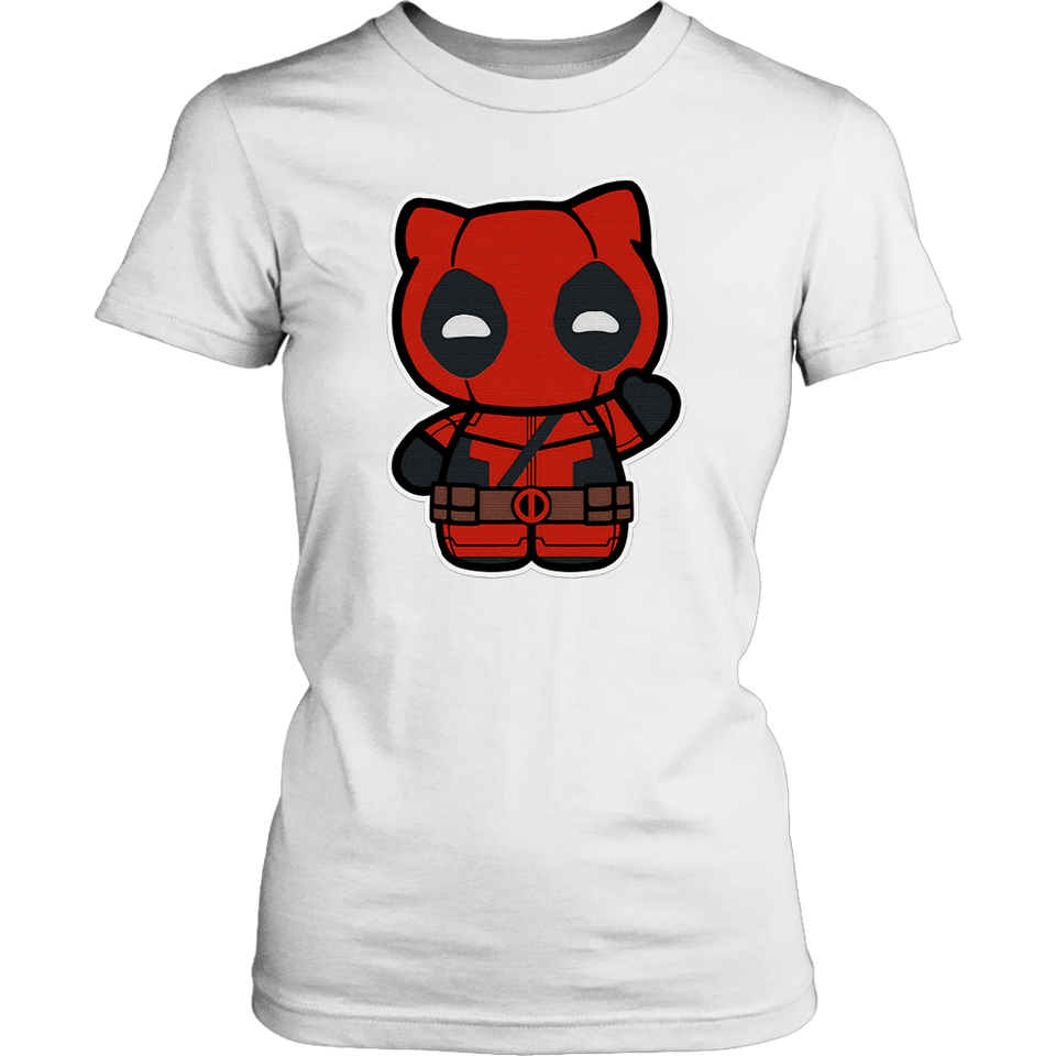 Hi- Yukio Marvel Deadpool Hello Kitty Shirts