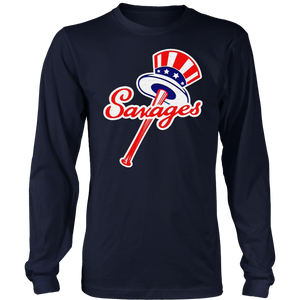 Savages Long Sleeve Shirt New York Yankees Top Hat Emblem - Tommy Kahnle