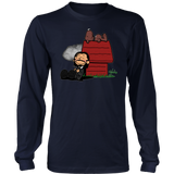 JOHN WICK AND DOG IN THE STYLE OF PEANUTS CHARLIE BROWN AND SNOOPY T SHIRT
