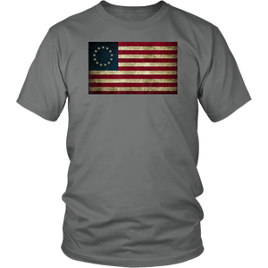 God Bless America Betsy Ross Flag 1776 Vintage T-shirt