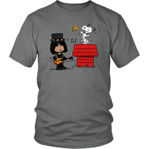 The peanuts snoopy and slash shirt