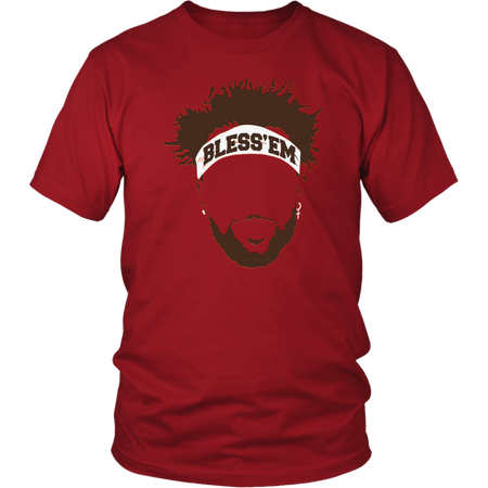 Jarvis Landry Bless 'Em Cleveland Browns Football Tee Shirt