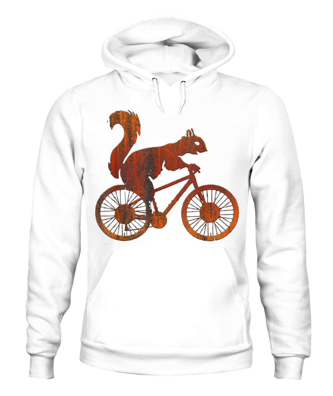 Squirrel Riding A Bicycle Vintage Bike Squirrel T- - Unisex Hoodies