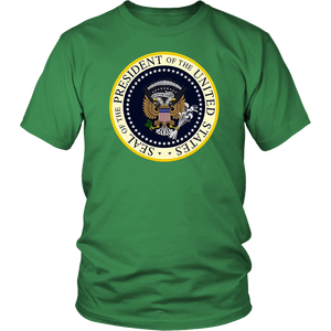 Trump Parody Fake Presidential Seal 45 Puppet Russian Eagle T-shirt