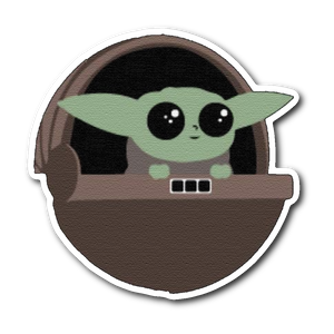 Cute Green Baby Alien Vinyl Decal Sticker For Car Truck Vehicle Window