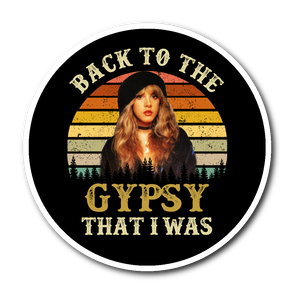 retro stevie nicks gypsy that i was Sticker
