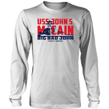 USS JOHN S. McCAIN SHIRT - BIG BAD JOHN - RAG OF HONOR SHIRT