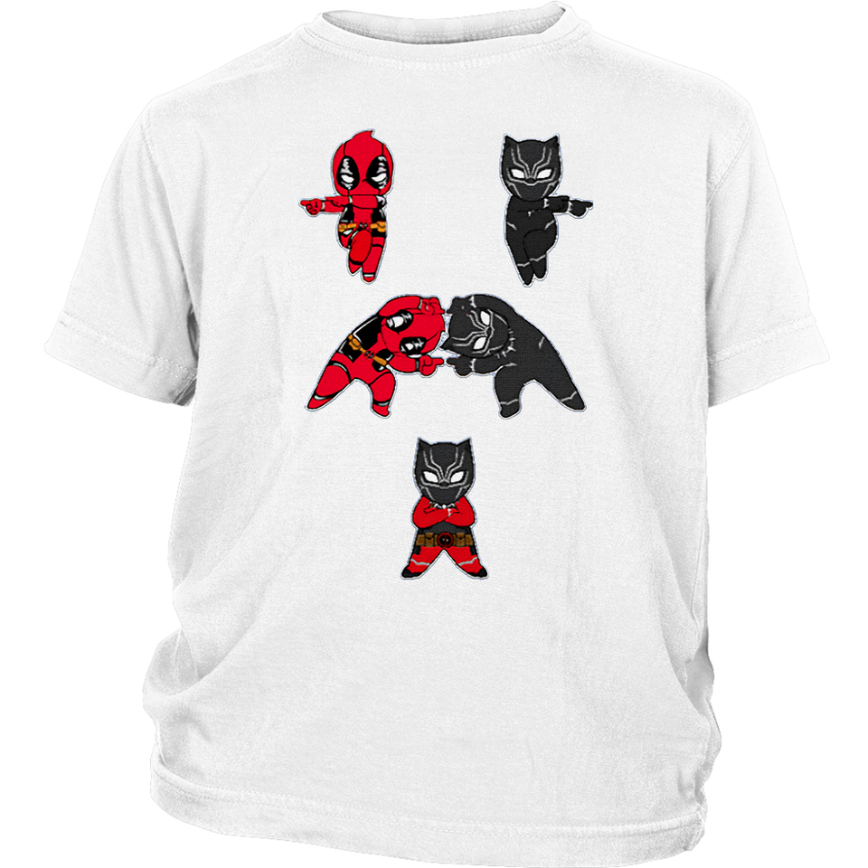 Deadpool And Black Panther Fusion Dance Shirts