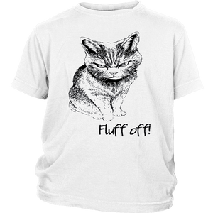 Fluff Off Angry Cat Lucifer 2019 T Shirt