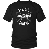 Father's Day Gifts T-Shirt Fishing Reel Cool Papa Dad FUNNY