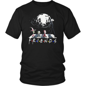 Halloween The Nightmare Walking Abbey Road Friends TV Show T-Shirt