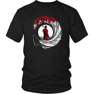Mashup Deadpool 007 Jame Bond Gun Barrel Shirts