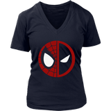 Spider-Man And Deadpool Half Of Each Logo Shirts