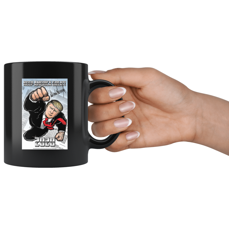 Donald J. Trump Limited Edition Fine Art Black Mug