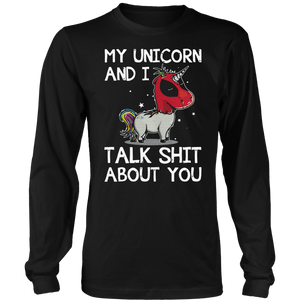 My Unicorn And I Talk Shit About You Deadpool Unicorn Shirts