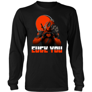 Cleveland Browns x Deadpool Fuck You And Love You NFL Shirts