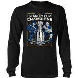 Stanley St-Louis Cup Blues Champions 2019 sports Bleed Blue T-Shirt