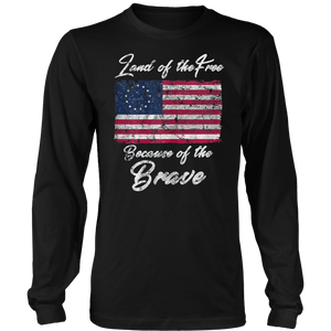 Patriotic Betsy Ross American Flag Shirt with 13 Stars