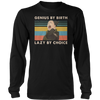 Vintage nara shikamaru genius by birth lazy by choice shirt