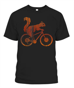 Pro Squirrel Riding A Bicycle Vintage Bike Squirrel Shirt