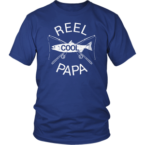 Father's Day Gifts T-Shirt Fishing Reel Cool Papa Dad FUNNY - Yeyvibes