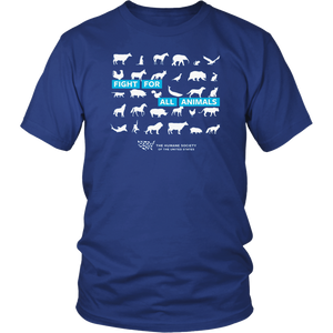 Fight For All Animals The Humane Society Of The United States T-Shirt
