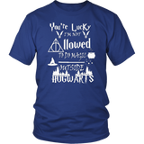You're Lucky I'm Not Allowed To Do Magic Outside Hogwarts Shirt
