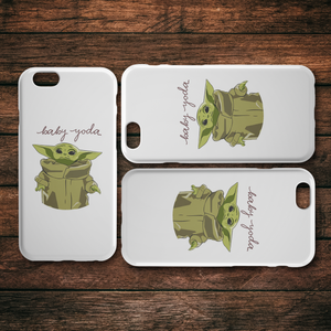 cute baby yoda iphone case
