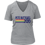 Mayor pete buttigieg 2020 retro pride rainbow T Shirt