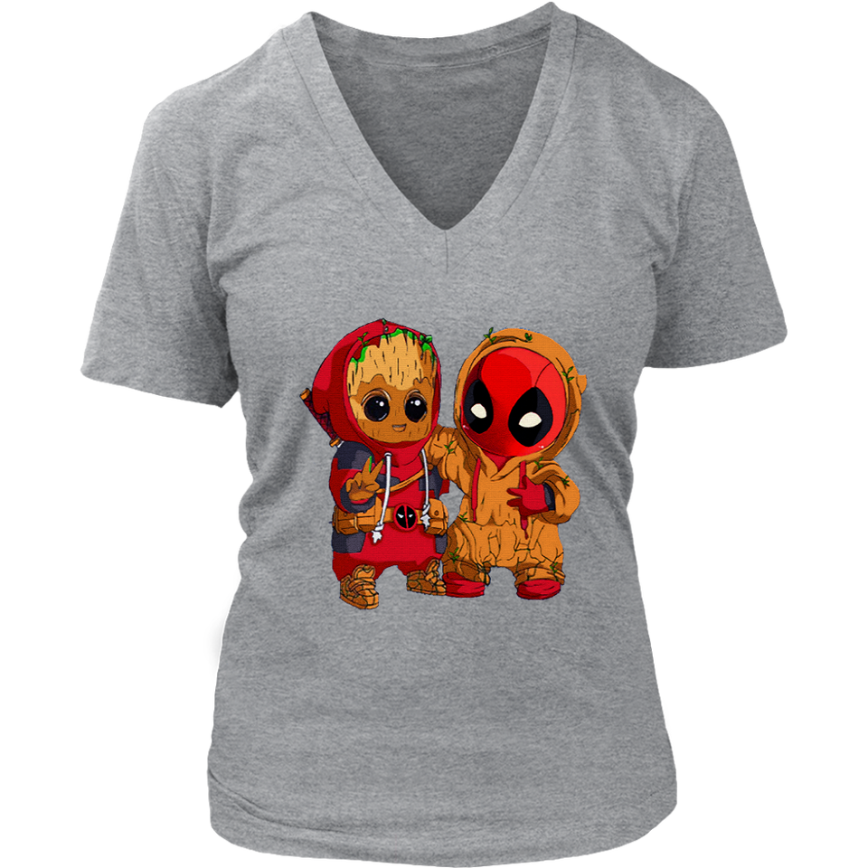 Baby Groot And Deadpool Costume Switch Cute Shirts