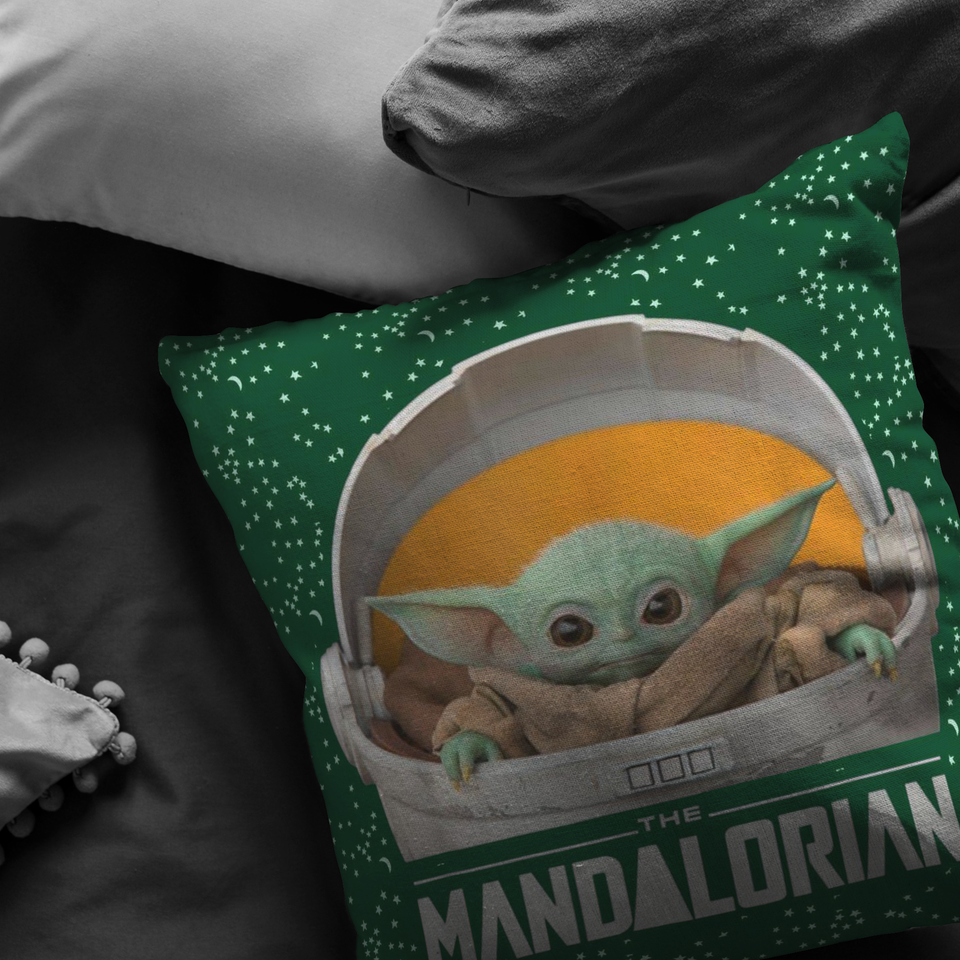 Baby Yoda Pillow Star Funny Cute