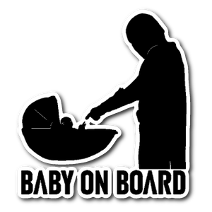 Baby On Board Baby Yoda Sticker