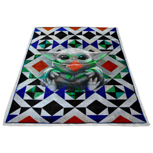 Baby Yoda Blanket Nordic Triangles Quilt