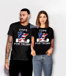 t shirt cops for trump texas